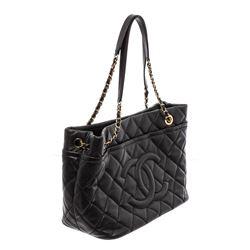 Chanel Black Caviar Leather Timeless Soft Shopper Tote Bag
