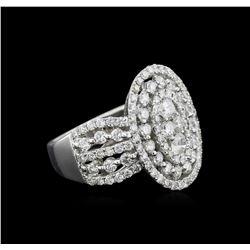2.32 ctw Diamond Ring - 18KT White Gold