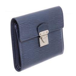 Louis Vuitton Blue Epi Leather Koala Wallet