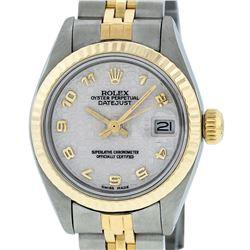 Rolex Ladies 2 Tone 14K Yellow Gold & Stainless Steel Cream Jubilee Datejust