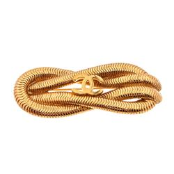 Chanel Vintage Gold-Tone Reef Rope Knot Brooch Pin