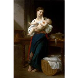 William Bouguereau - Premires Caresses