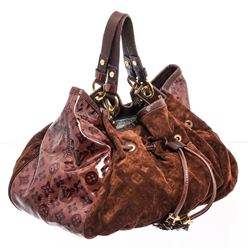 Louis Vuitton Brown Monogram Suede Leather Irene Coco Bag