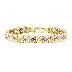 12.00 ctw Multi-Color Gemstone Bracelet - 14KT Yellow Gold