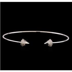 14KT White Gold 0.34 ctw Diamond Bangle Bracelet