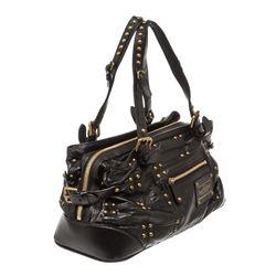 Louis Vuitton Black Leather Sac Riveting Bag