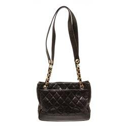 Chanel Black Caviar Leather Tote Shoulder Bag