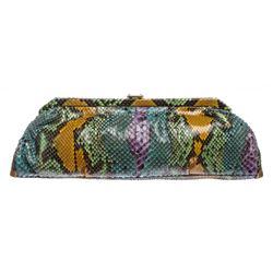 MCM Multicolor Snakeskin Amaranda Long Clutch Handbag