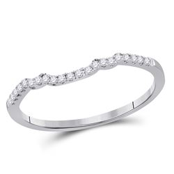 1/10 CTW Round Diamond Ring 14kt White Gold - REF-14H4W