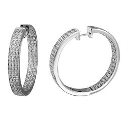 2.15 CTW Diamond Earrings 14K White Gold - REF-222N5Y