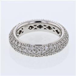 1.75 CTW Diamond Ring 18K White Gold - REF-159M3F
