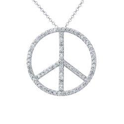 0.90 CTW Diamond Necklace 14K White Gold - REF-68R2K