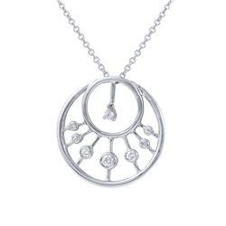 0.29 CTW Diamond Necklace 14K White Gold - REF-59K3W