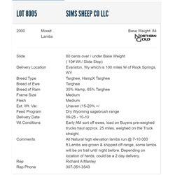 Sims Sheep Co LLC - 2000 Mixeds Lambs