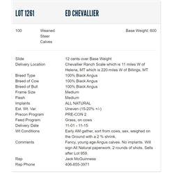 Ed Chevallier - 100 Steers