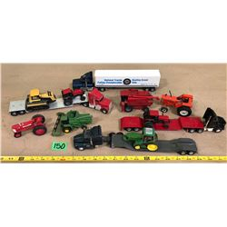 12 X TOY FARM & TRANSPORT VEHICLES
