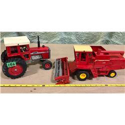 MASSEY-FERGUSON 760 COMBINE & 1155 TRACTOR - DIE-CAST FARM VEHICLES