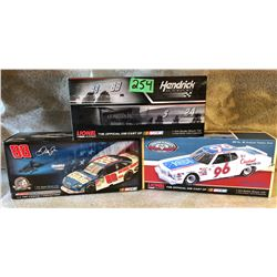 3 X DALE EARNHARDT  & JR MODEL STOCK CARS