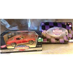 1963 CORVETTE STING RAY & GARY DENSHAM 1996 FUNNY CAR.