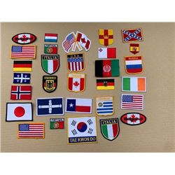 LOT OF 30 FLAG RELATED PATCHES