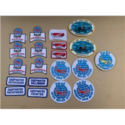 20 SCUBA DIVING PATCHES - RETAIL $300