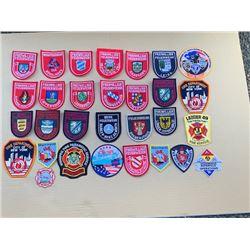 30 DIFFERENT FIRE FIGHTER PATCHES - RETAIL $10-15 EACH