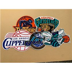 5 DIFFERENT LARGE NBA JACKET CRESTS - RETAIL 49.99 EACH