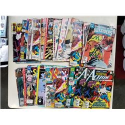 LOT OF 50 VARIOUS TITLE COMICS - SUPERMAN, BATMAN, X-MEN