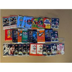 30 VARIOUS UNOPENED CARD PACKS