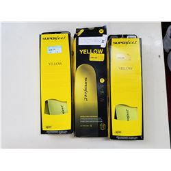 3 YELLOW SUPERFEET INSOLES SIZE G MENS 13.5-15 EBAY SOLD PRICE $50 EACH