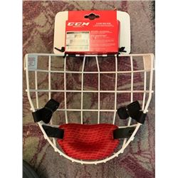 4 NEW CCM FM580 ADULT LARGE WHITE HOCKEY FACEMASKS - EBAY SOLD PRICE $49.99 EACH