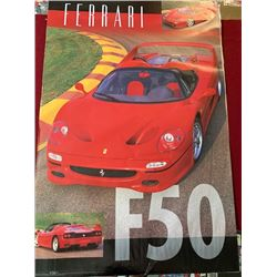 4 BRAND NEW 24 X 36 INCH SEALED FERRARI F50 POSTERS