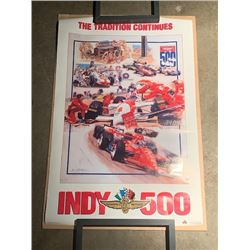 4 RARE NEW INDY 500 POSTERS