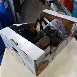 BOX OF SHOES, SANDALS, AND BOOTS