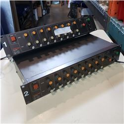 2 TASCAM MODEL M1-B LINE MIXERS