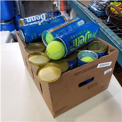 BOX OF TENNIS BALLS