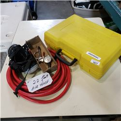 AUTO EMERGENCY KIT, FILTER MASK, AIR HOSE W/ GUAGE, AND BLOWER