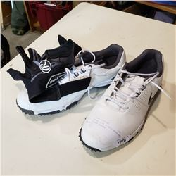 NIKE SIZE 9 GOLF SHOES AND GOLF GLOVES