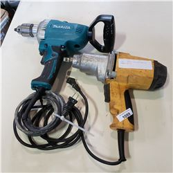 DEWALT IMPACT GUN AND MAKITA HAMMER DRILL