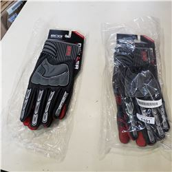 2 PAIRS OF NEW BDG DRILLER OIL AND ABRASIVE RESISTANT LEATHER WORK GLOVES
