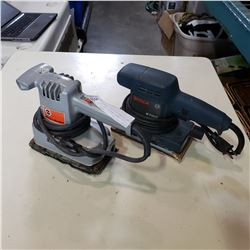 BOSCH POWER SANDER AND BLACK AND DECKER ELECTRIC SANDER