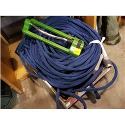 TRAY OF GARDEN HOSES AND SPRINKLER