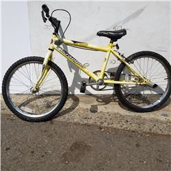 YELLOW AND ORANGE KIDS BIKE