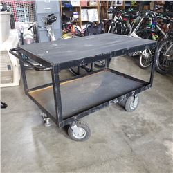 LARGE BLACK CART APPROX 52 X 31 INCHES