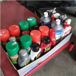 2 BOXES OF NEW AUTO DETAILING LIQUID AND AEROSOL
