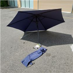 7 FOOT BLACK PATIO UMBRELLA