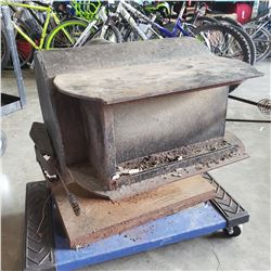 CAST-IRON WOOD BURNING STOVE