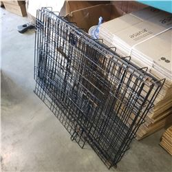 BLACK METAL FOLDING PET KENNEL