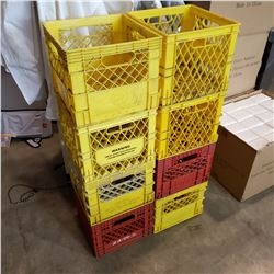 LOT OF MILK CRATES