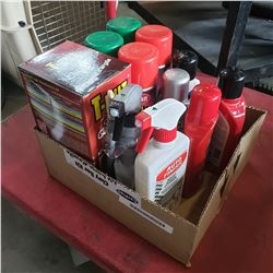 BOX OF NEW AUTO DETAILING LIQUID AND CLAY BAR KIT